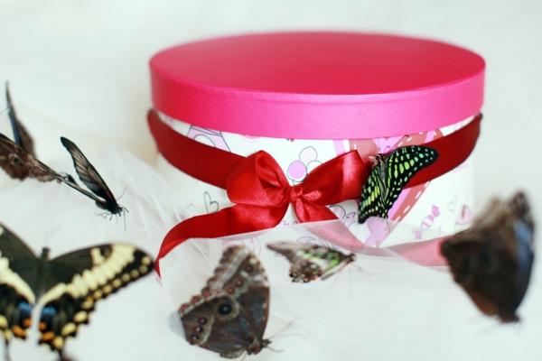 Бабочки в коробке подарок цена екатеринбург 31
